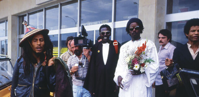 Bob Marley & The Wailers arriving at Ibiza Airport in 1978